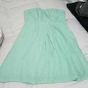 NWOT JCrew strapless summer dress 6P